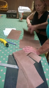 Leather cutting for notebook covers