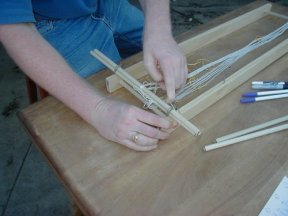 Attaching the warp to the frame