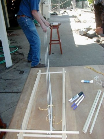 Stretching the warp to full length