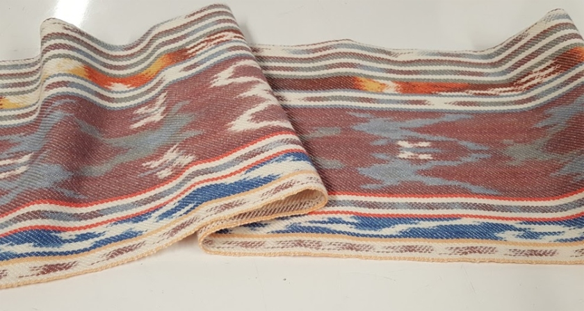 Colorful ikat dyed scarf