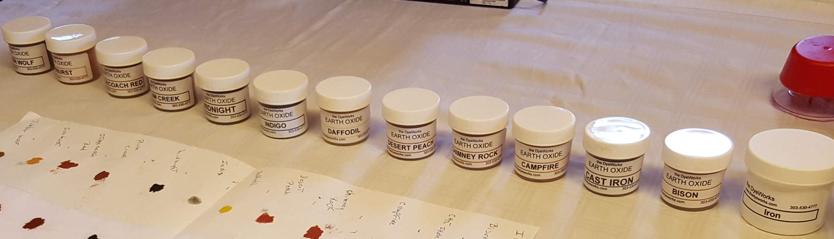 jars of dye