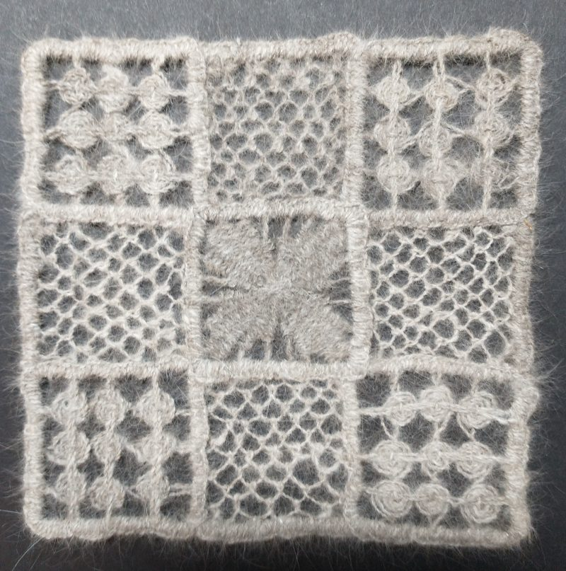 Handspun needle lace
