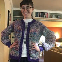 no-pattern knit cardigan
